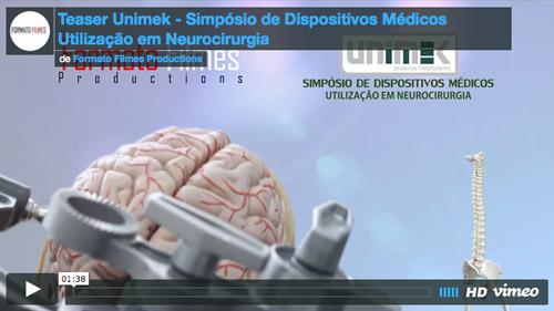 Teaser Unimek – Simpósio de Dispositivos Médicos Utilização em Neurocirurgia